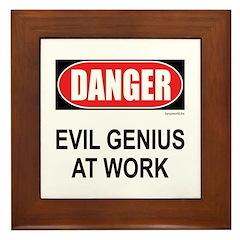Evil Genius Framed Tile