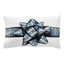 Blue Circus Bow Pillow Case