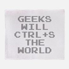 Geeks Will CTRL+S The World Stadium Blanket
