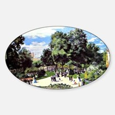 Renoir - The Champs Elysees during  Sticker (Oval)
