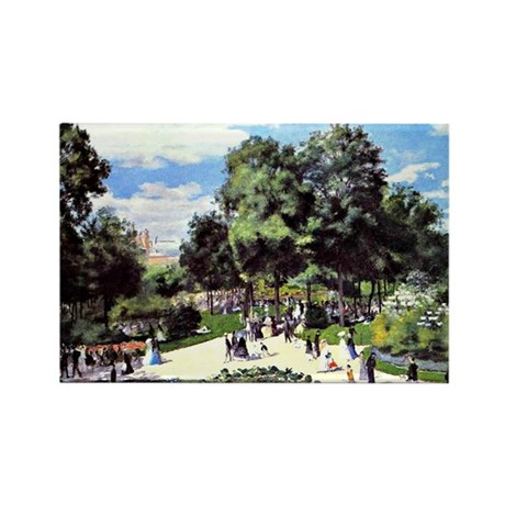 Renoir - The Champs Elysees durin Rectangle Magnet