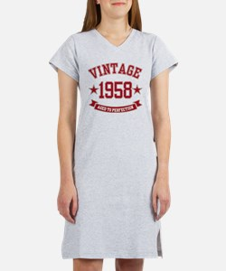 1958 Vintage Aged to Perfection Women's Nightshirt