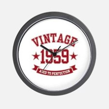 1959 Vintage Aged to Perfection Wall Clock