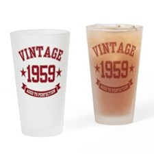 1959 Vintage Aged to Perfection Drinking Glass
