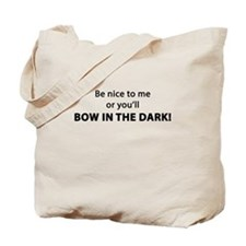 Bow In The Dark Tote Bag