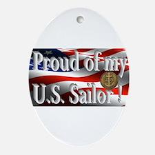Proud of my U.S. Sailor Ornament (Oval)
