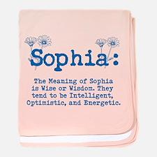 Sophia Personalized Name baby blanket