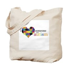 I HEART someone with Autism - Tote Bag