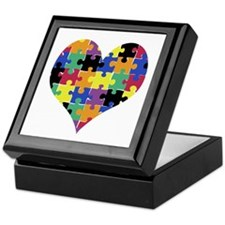 I HEART someone with Autism - Keepsake Box
