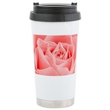 Delicate Pink Rose Travel Mug
