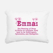 Emma Personalized Name Rectangular Canvas Pillow