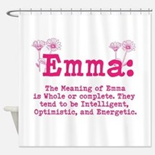 Emma Personalized Name Shower Curtain