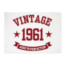 1961 Vintage Aged To Perfection 5'x7'Area Rug