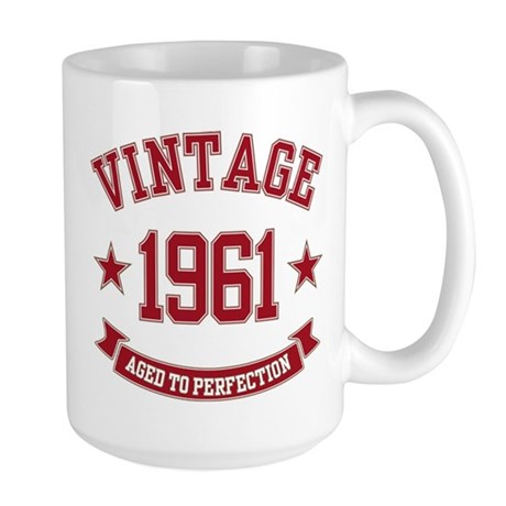 1961 Vintage Aged To Perfection Large Mug