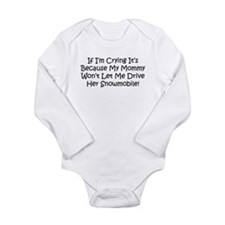 Drive My Mommys Snowmobile Body Suit