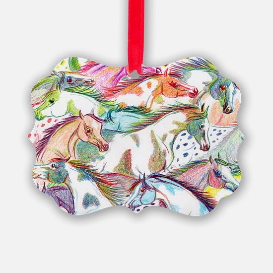 horses of color Ornament