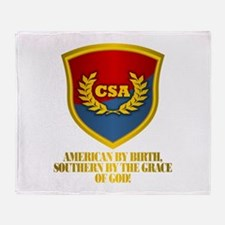 Southern By The Grace Of God Throw Blanket