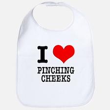 I Heart (Love) Pinching Cheeks Bib