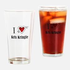 i love Kris Kringle Christmas x-mas Drinking Glass