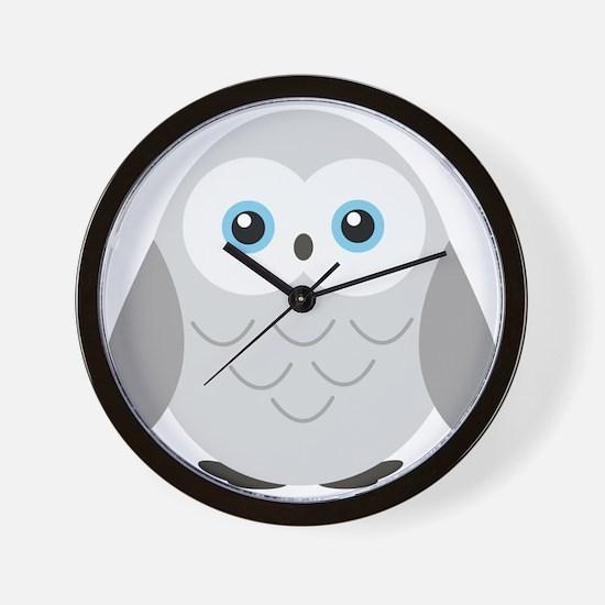 Sweet Snowy Owl Wall Clock