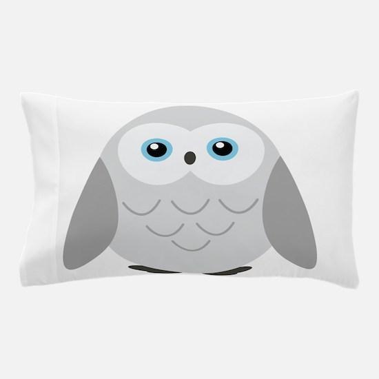 Sweet Snowy Owl Pillow Case