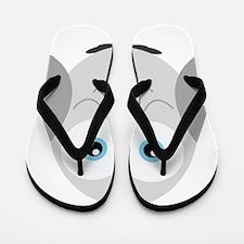 Sweet Snowy Owl Flip Flops