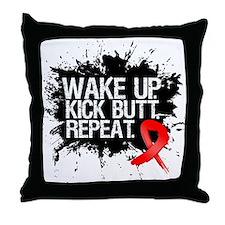 Blood Cancer Kick Butt Throw Pillow
