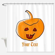 Your Text Pumpkin Shower Curtain