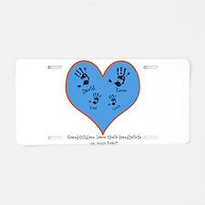 Personalized handprints 4 grandkids Aluminum Licen