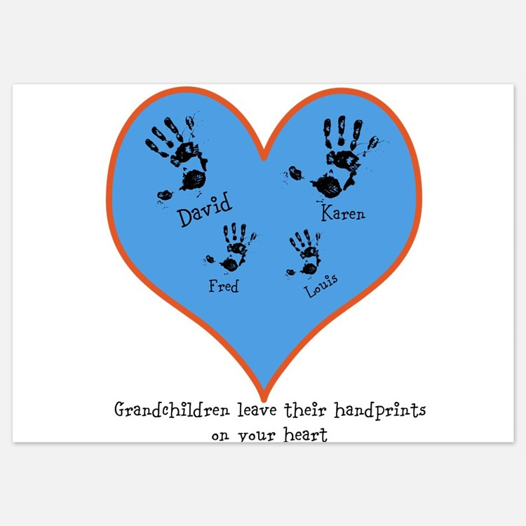 Personalized handprints 4 grandkids Invitations