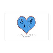 Personalized handprints 4 grandkids Car Magnet 20
