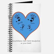 Personalized handprints 4 grandkids Journal