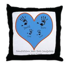 Personalized handprints 4 grandkids Throw Pillow