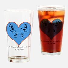 Personalized handprints 4 grandkids Drinking Glass