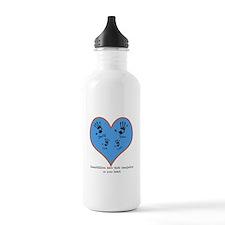 Personalized handprints 4 grandkids Water Bottle