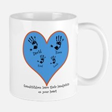 Personalized handprints 4 grandkids Mugs