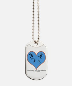 Personalized handprints 4 grandkids Dog Tags