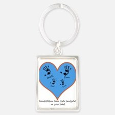 Personalized handprints 4 grandkids Keychains