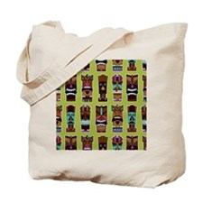 Colorful Tiki Mask Pattern Tote Bag