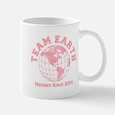 Team Earth : Member since 2014 baby pink Mugs