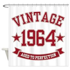 1964 Vintage Aged to Perfection Shower Curtain
