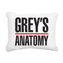 Grey's Faded Rectangular Canvas Pillow