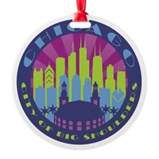 Chicago round cool Ornament