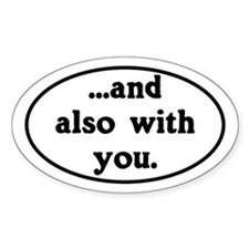 And Also With You Church Van Stickers