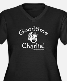 GoodTime Charlie Women's Plus Size V-Neck Dark T-S