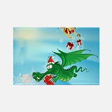 Cute Christmas Dragon  Rectangle Magnet