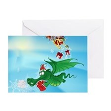 Cute Christmas Dragon  Greeting Card