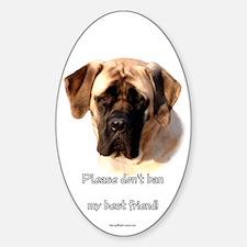 Mastiff (fawn) BSL Oval Decal