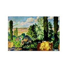 Kustodiev - Ukrainian Landscape,  Rectangle Magnet