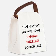 avid puzzle fan Canvas Lunch Bag